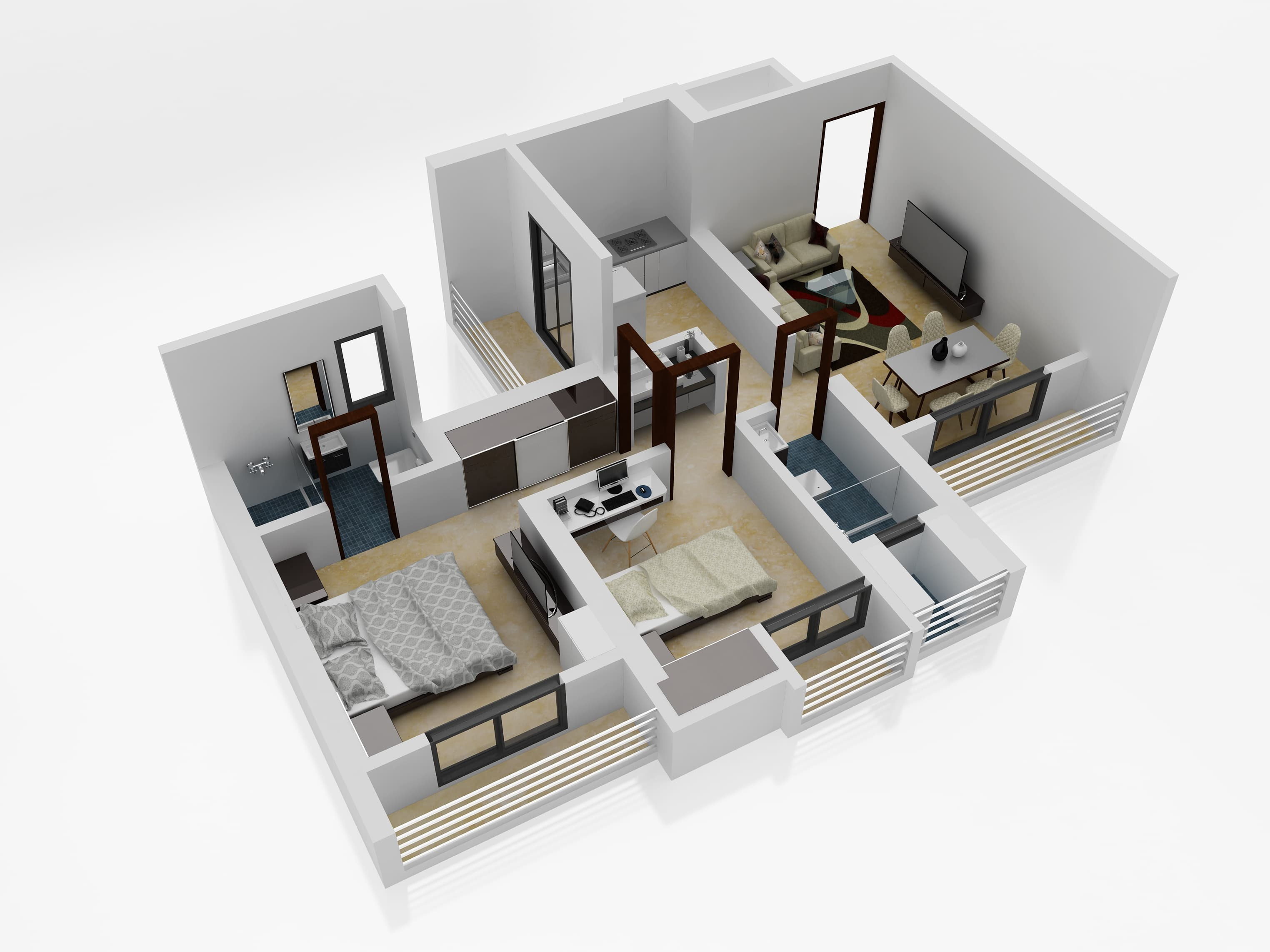 3D Isometric View